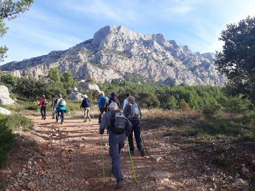 randonnée montagne sainte-victoire